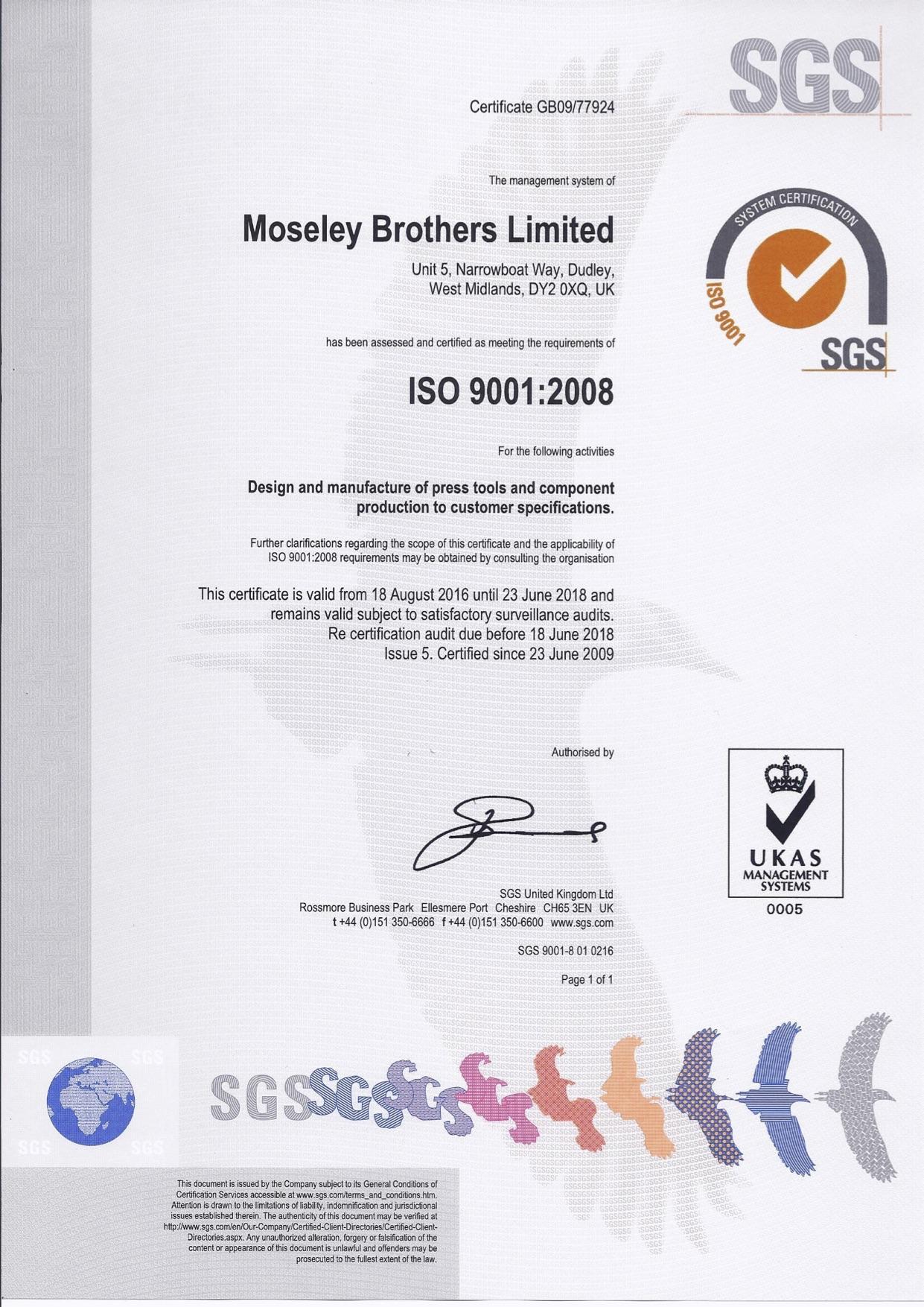 SGS ISO 9001-2008 Certificate 2016-2018 jpg